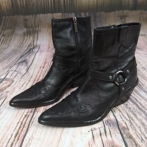 Harley Davidson Leather Flame Boots 6.5